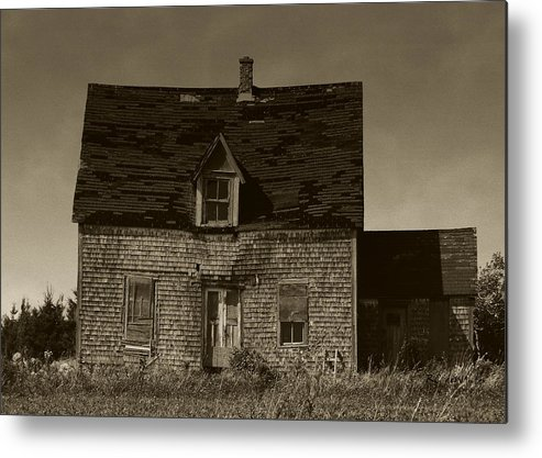 Old House Metal Print featuring the photograph Dark Day On Lonely Street by RC DeWinter