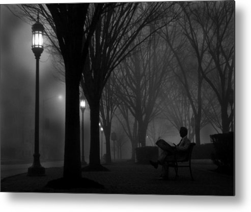 Night Metal Print featuring the photograph Darkness Falls by Lori Deiter