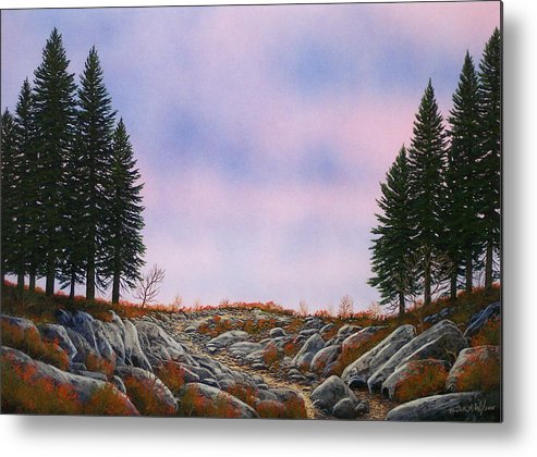 Landscape Metal Print featuring the painting Dawn Pacific Crest Trail by Frank Wilson