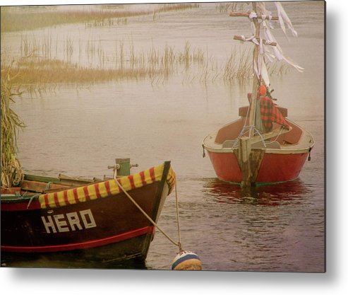 Boat Metal Print featuring the photograph Dennisport Marsh by JAMART Photography