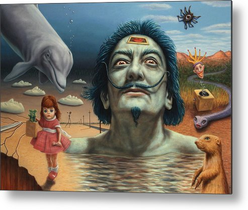Dali Metal Print featuring the painting Dolly In Dali-land by James W Johnson