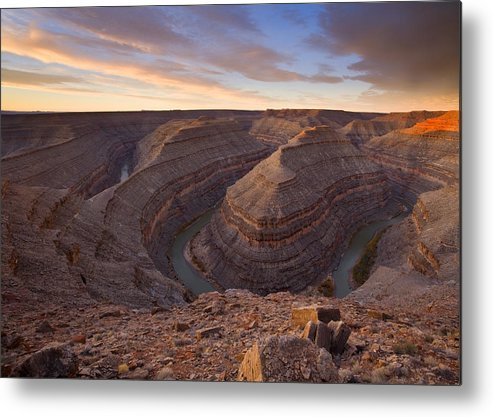 Goosenecks State Park Metal Print featuring the photograph Doubleback by Mike Dawson
