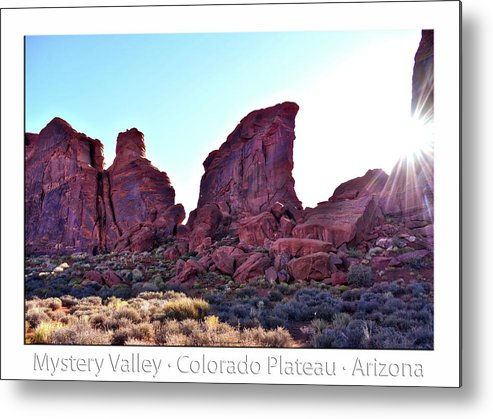 Mystery Valley Metal Print featuring the photograph Early Morning Mystery Valley Colorado Plateau Arizona 05 Text by Thomas Woolworth
