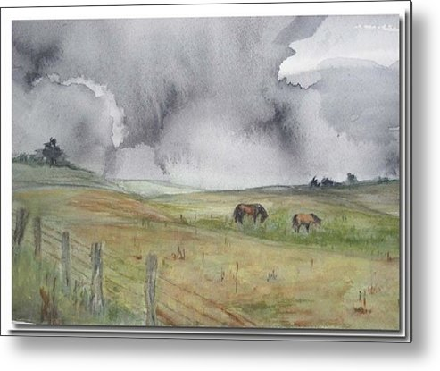 Moors Metal Print featuring the painting English Memories by Sibby S