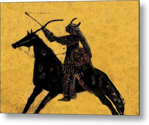 Flaming Arrow Metal Print featuring the painting Flaming Arrow by David Lee Thompson