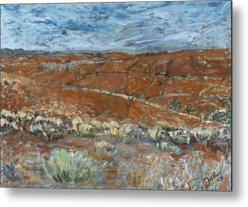 Australia Metal Print featuring the painting Flinders Ranges by Joan De Bot