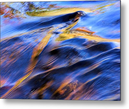Colorful Water Metal Print featuring the photograph Flowing Water In Fall by Joanne Baldaia