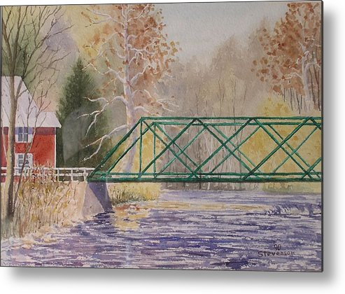 Fall Creek Bridge Metal Print featuring the painting Forest Home-ithaca by Joseph Stevenson