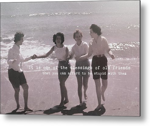 Beach Metal Print featuring the photograph Goddess Gathering Quote by JAMART Photography