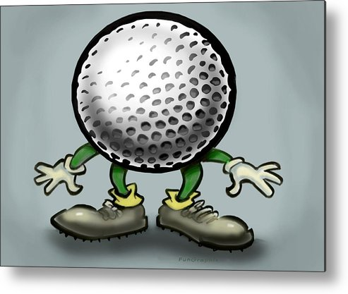 Golf Metal Print featuring the greeting card Golf by Kevin Middleton