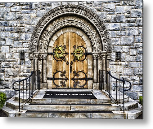 St Ann Metal Print featuring the photograph Grace - St Ann Church by Stephen Stookey