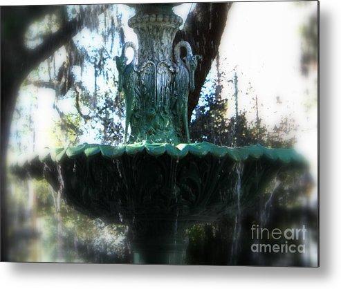 Savannah Metal Print featuring the photograph Green Fountain by Carol Groenen