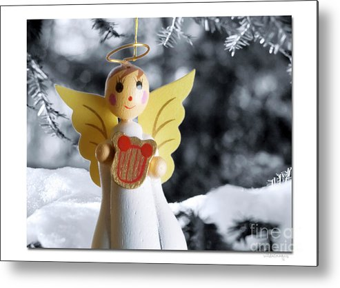 Christmas Metal Print featuring the digital art Harp The Herald Angels Sing by Ken and Lois Wilder