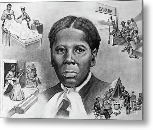 Harriet Tubman Metal Print featuring the painting Harriet Tubman by Curtis James