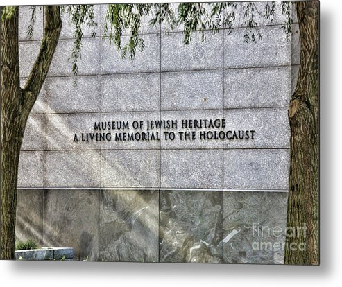 New York Metal Print featuring the photograph Holocaust Museum Of Jewish Heritage Ny by Chuck Kuhn