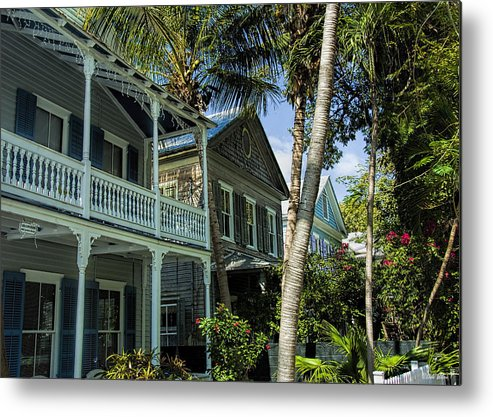 Key West Metal Print featuring the photograph Houses In The Palms by Dale Wilson