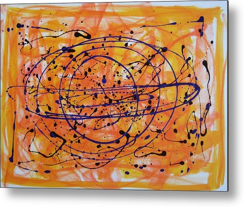 Abstract Metal Print featuring the painting Il Mondo Che Vorrei by Paolo Santo