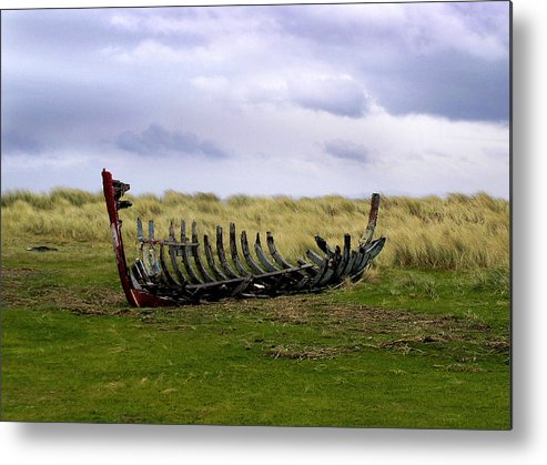 Ireland Metal Print featuring the photograph Irish Wreck by Charles Harden