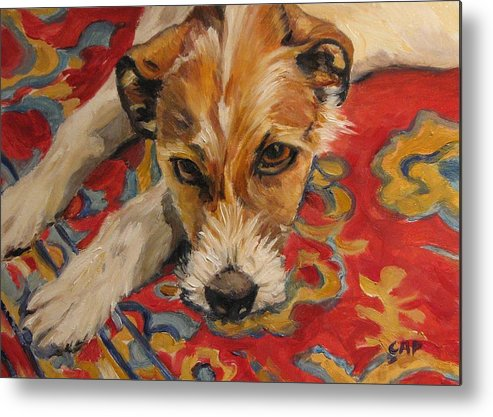 Dog Metal Print featuring the painting Jack Russell by Cheryl Pass