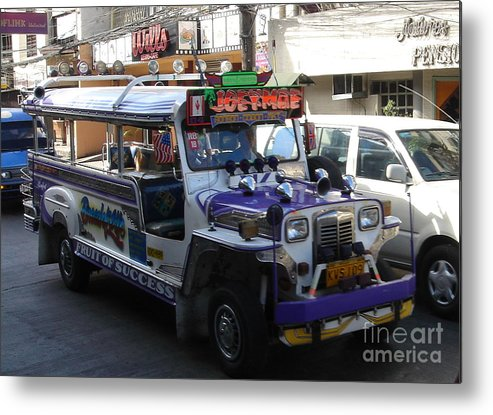 Jeepney Metal Print featuring the photograph Jeepney 06 by Mike Holloway
