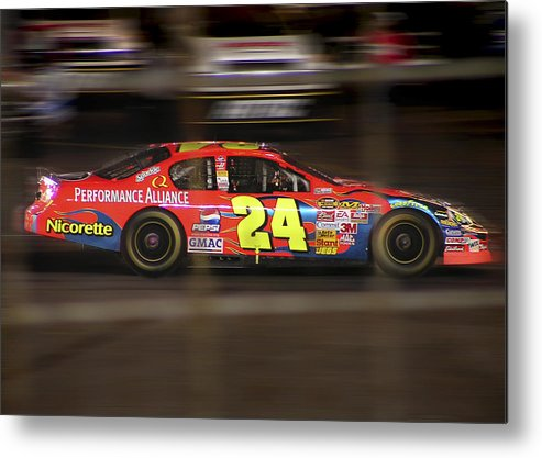 Jeff Gordon Metal Print featuring the photograph Jeff Gordons Cup Car by Kenneth Krolikowski