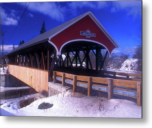 Covered Bridge Metal Print featuring the photograph Lancaster Covered Bridge by John Burk