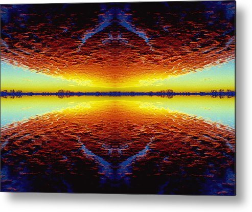 Sunset Metal Print featuring the photograph Last Sunset by Nancy Mueller