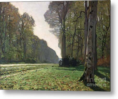 The Metal Print featuring the painting Le Pave De Chailly by Claude Monet