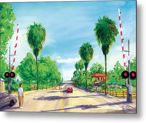 Linden Avenue Metal Print featuring the painting Linden To The Beach by Ray Cole