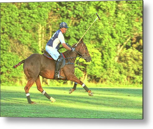 Polo Metal Print featuring the photograph Line Of The Ball by JAMART Photography