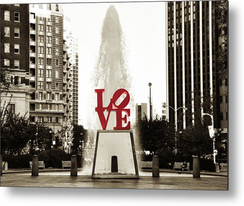 Love Metal Print featuring the photograph Love In Philadelphia by Bill Cannon