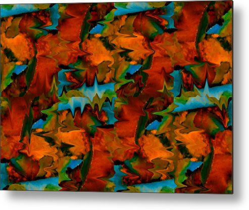 Abstract Metal Print featuring the painting Meltdown by Stephen Anderson