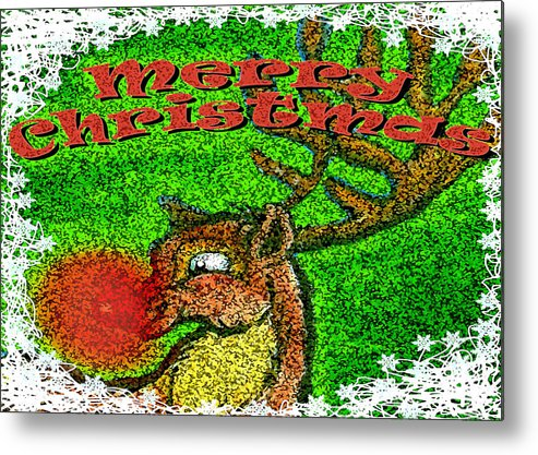Christmas Metal Print featuring the greeting card Merry Christmas by Kevin Middleton