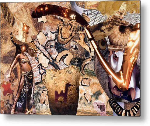 Kamelogana Metal Print featuring the mixed media Minotauros by Christoph Fuhrken