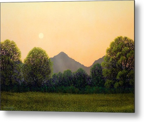 Landscape Metal Print featuring the painting Morning Light by Frank Wilson