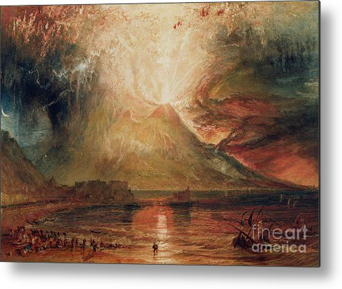 Mount Metal Print featuring the painting Mount Vesuvius In Eruption by Joseph Mallord William Turner