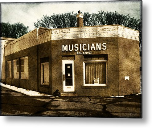 1950s Metal Print featuring the photograph Musicians Local 67 by Tim Nyberg
