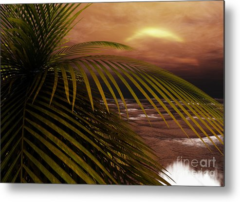 Tropical Metal Print featuring the digital art Night Moves by Richard Rizzo