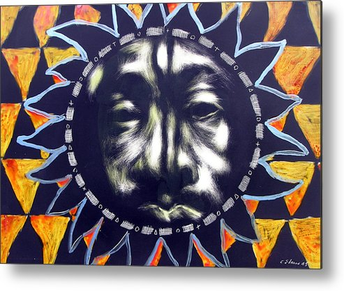 Metal Print featuring the mixed media Oakland Sunshine by Chester Elmore