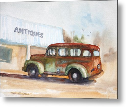 Old Truck Metal Print featuring the painting Old And Rusty by Bobby Walters