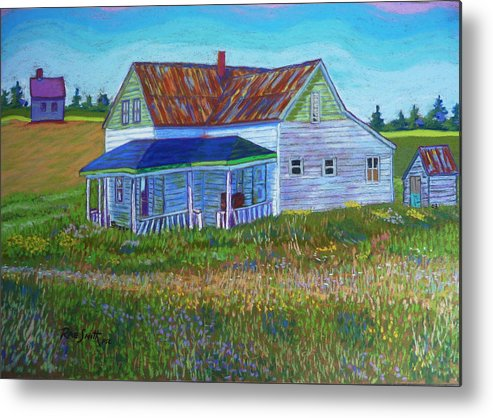 Tinroof Metal Print featuring the pastel Old Tin Roof by Rae Smith