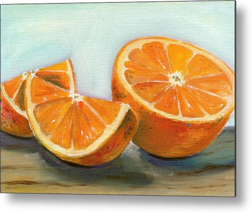 Oil Metal Print featuring the painting Orange by Sarah Lynch