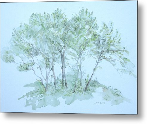 Trees Metal Print featuring the painting Outer Banks by Leah Tomaino