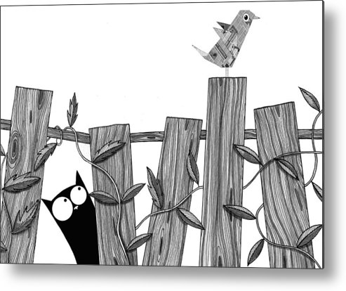 Bird Metal Print featuring the painting Paper Bird by Andrew Hitchen
