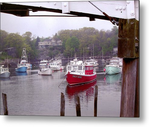 Boats Metal Print featuring the photograph Perkins Cove by Peter Williams
