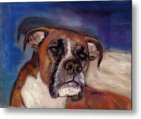 Pastel Pet Portraits Metal Print featuring the painting Pet Portraits by Darla Joy Johnson
