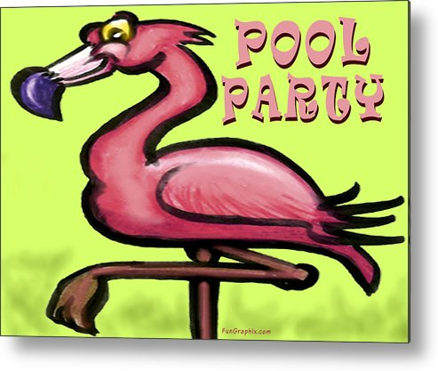Pool Metal Print featuring the greeting card Pool Party by Kevin Middleton
