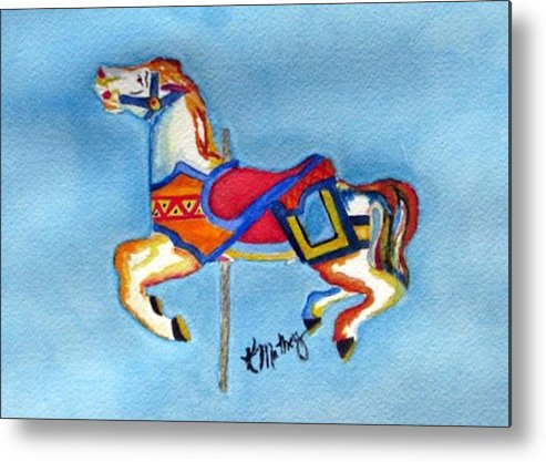 Horse Metal Print featuring the painting Prance by Karla Mathey