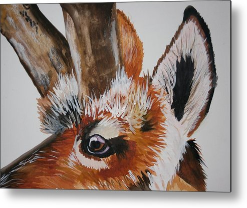 Animals Metal Print featuring the painting Pronghorn by Michele Turney