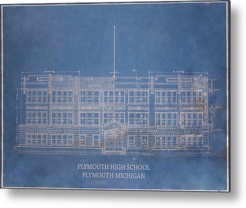 Photo Metal Print featuring the photograph Pymouth High School by Kriskraf